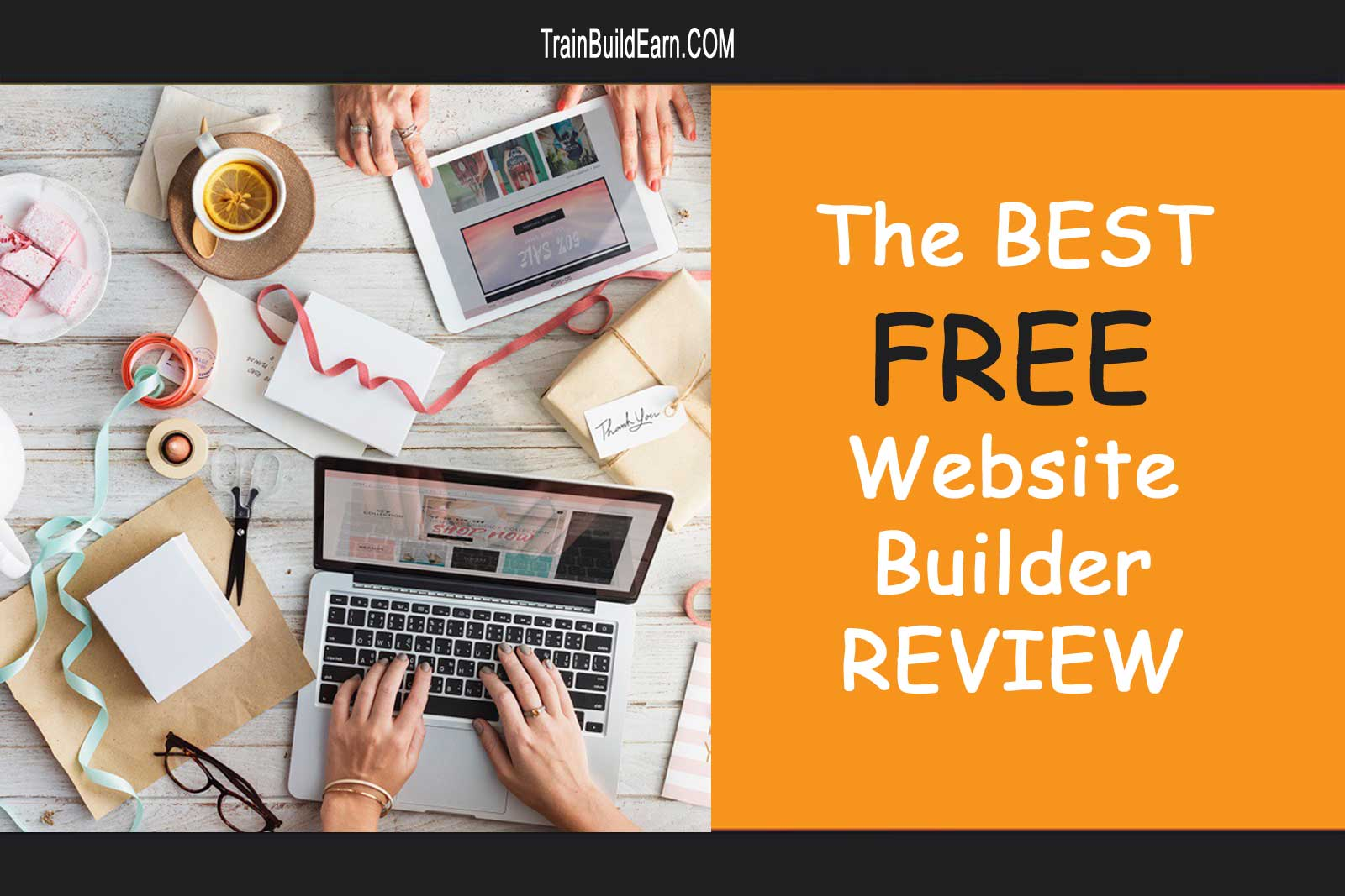the best free website builder banner