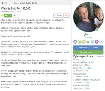 wealthy affiliate review testimonials Dylan
