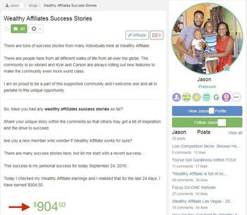 wealthy affiliate review testimonials Jason