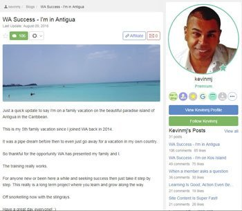 wealthy affiliate review testimonials Kevin