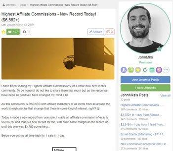 wealthy affiliate review testimonials John