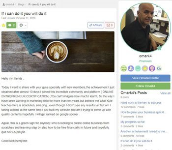 wealthy affiliate review testimonials Omar