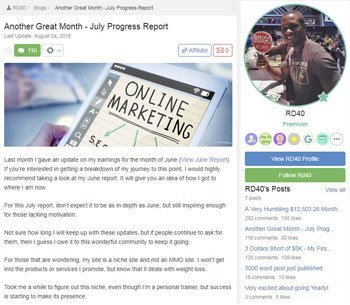 wealthy affiliate review testimonials RD