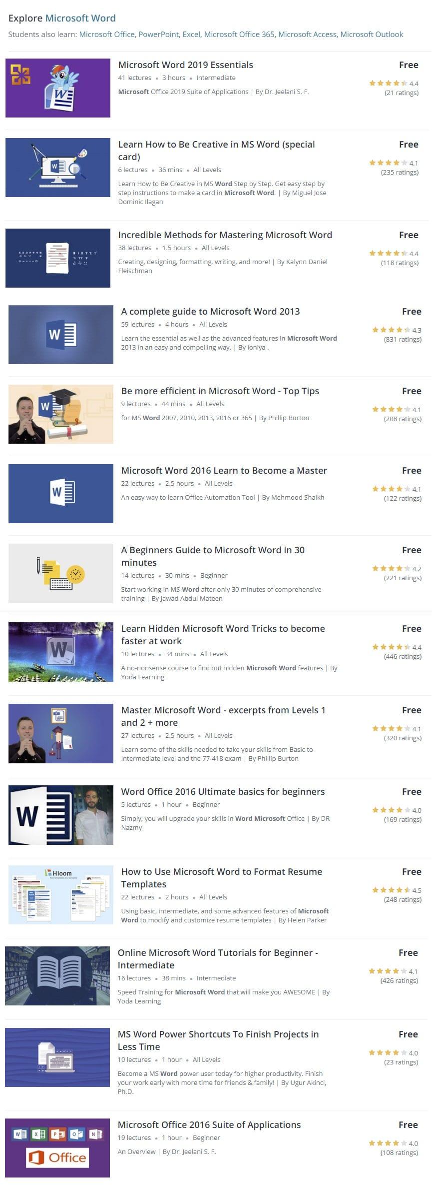 Free-Microsoft-Word-Classes-Online-List