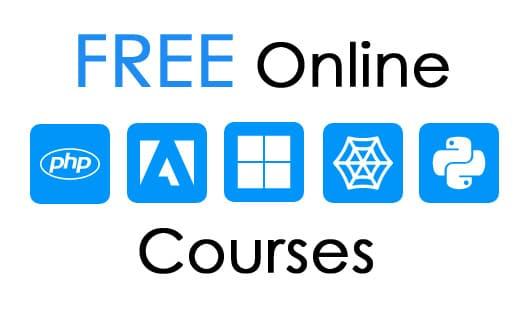 online free courses widget