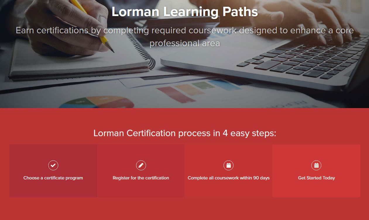 Lorman certification process in 4 steps