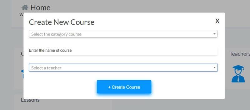 Create-a-Course tool