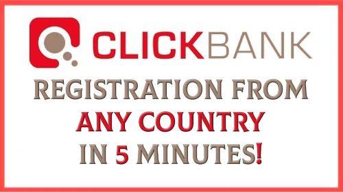 clickbank account set up